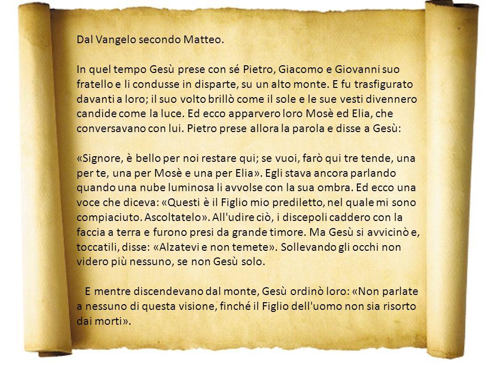 Omelia di don Ferruccio II domenica di Quaresima Anno A