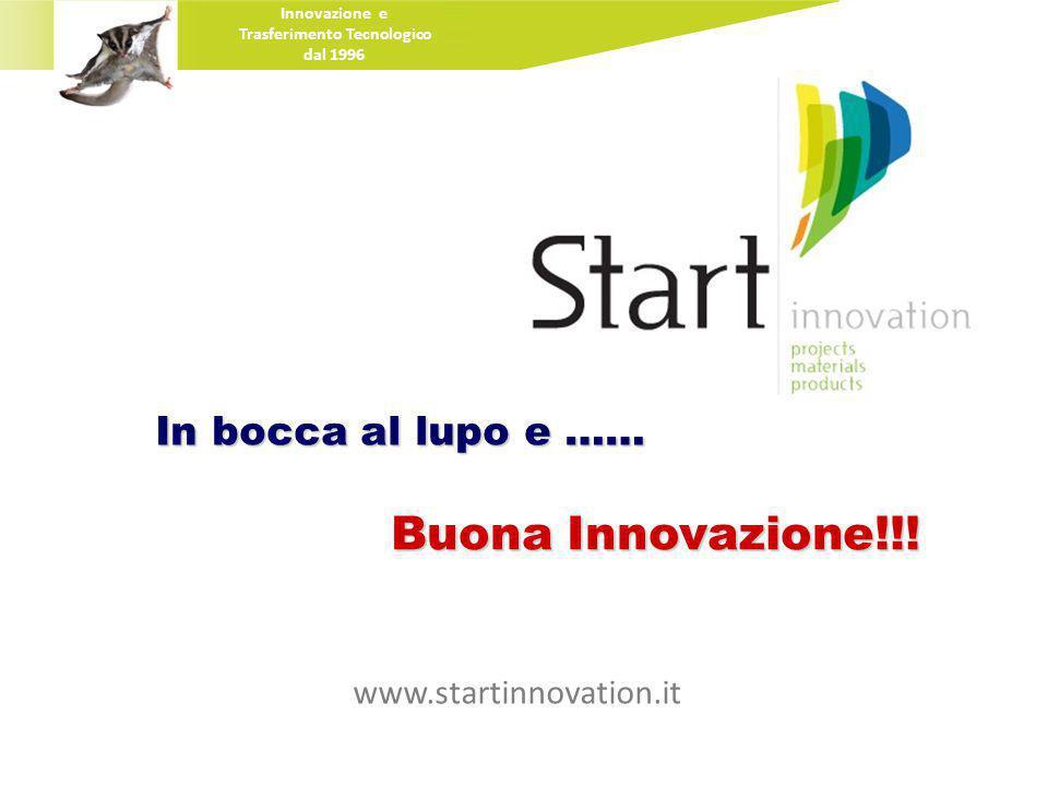 In bocca al lupo e …… Buona Innovazione!!.
