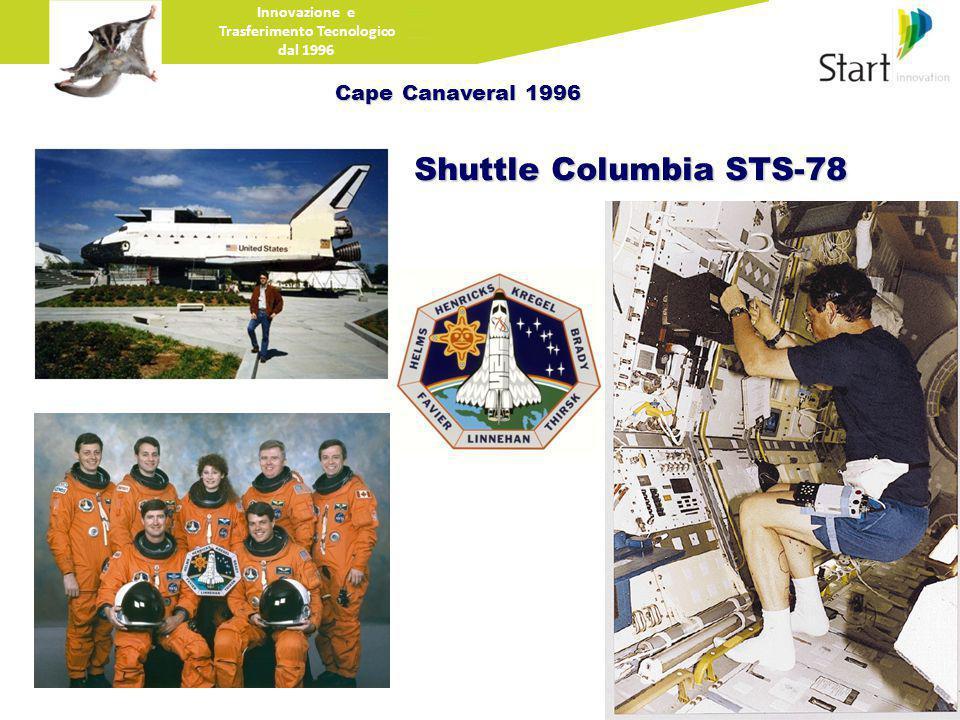 Innovazione e Trasferimento Tecnologico dal 1996 Cape Canaveral 1996 Shuttle Columbia STS-78