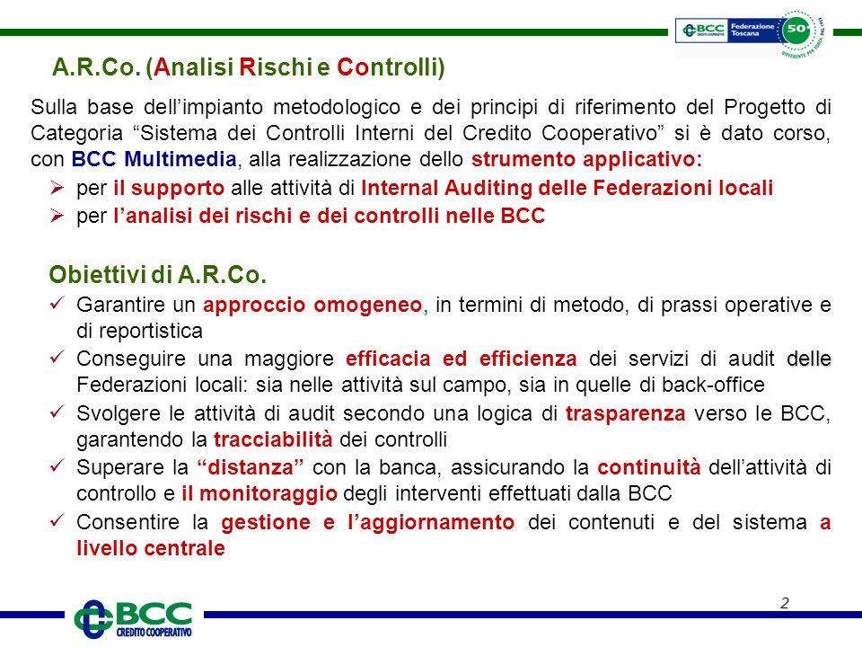 """2 Sulla base dell'impianto metodologico e dei principi di riferimento del Progetto di Categoria """"Sistema dei Controlli Interni del Credito Cooperativo"""