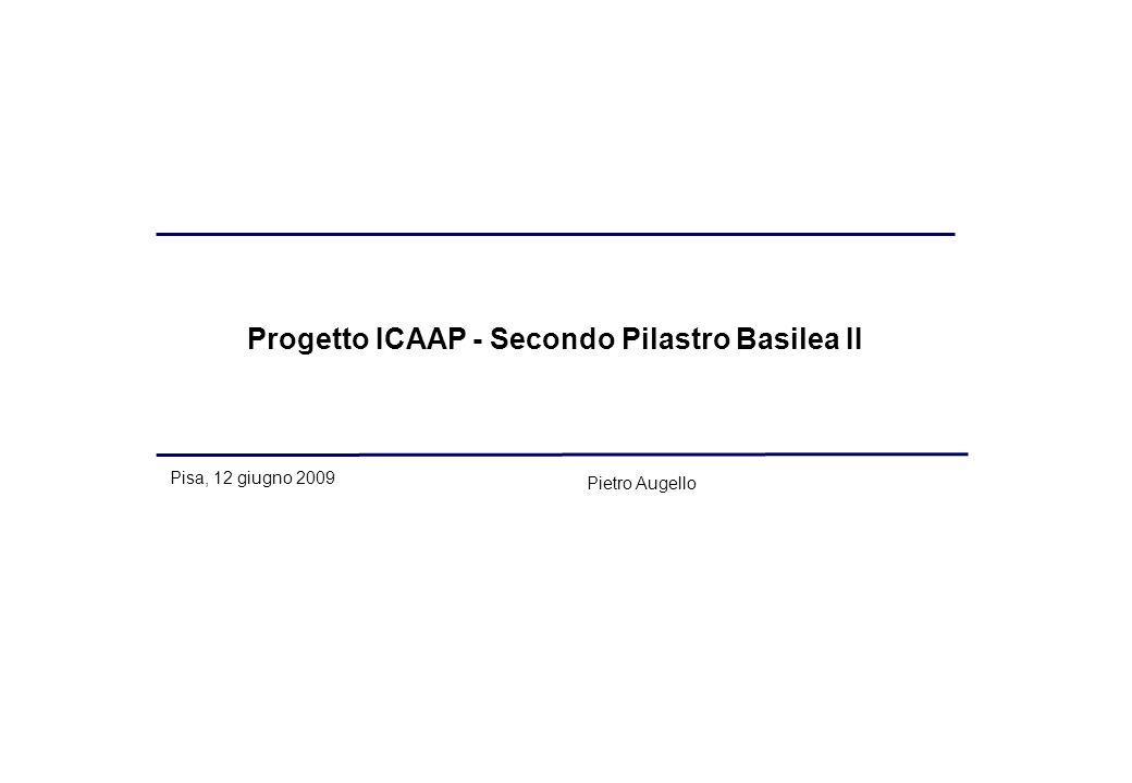 Progetto ICAAP - Secondo Pilastro Basilea II Pisa, 12 giugno 2009 Pietro Augello