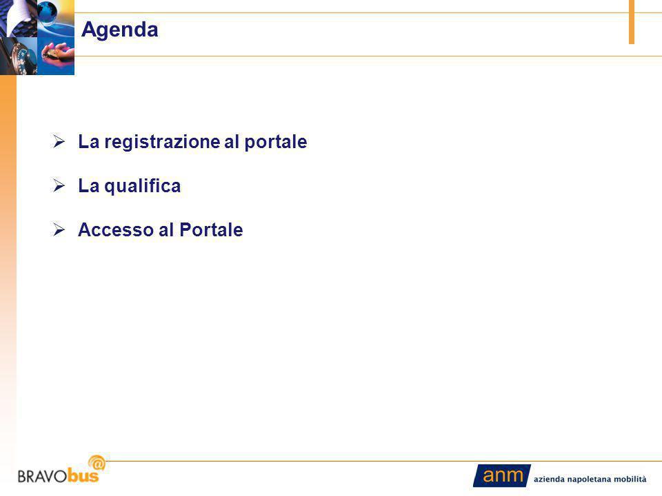 2 Agenda  La registrazione al portale  La qualifica  Accesso al Portale