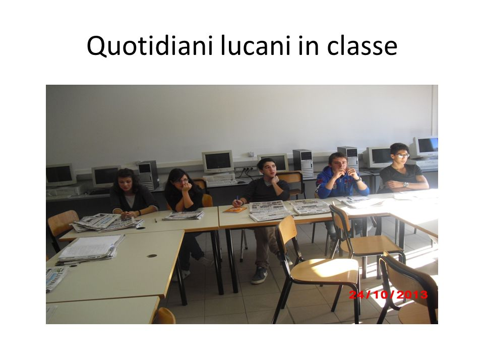 Quotidiani lucani in classe