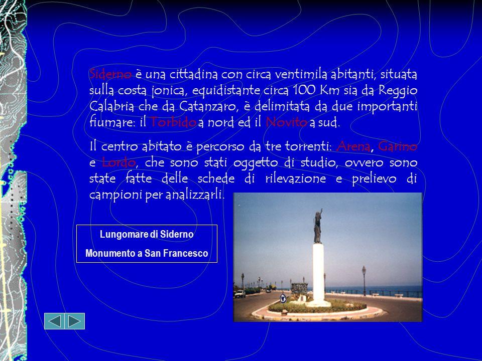 Siderno è una cittadina con circa ventimila abitanti, situata sulla costa jonica, equidistante circa 100 Km sia da Reggio Calabria che da Catanzaro, è delimitata da due importanti fiumare: il Torbido a nord ed il Novito a sud.