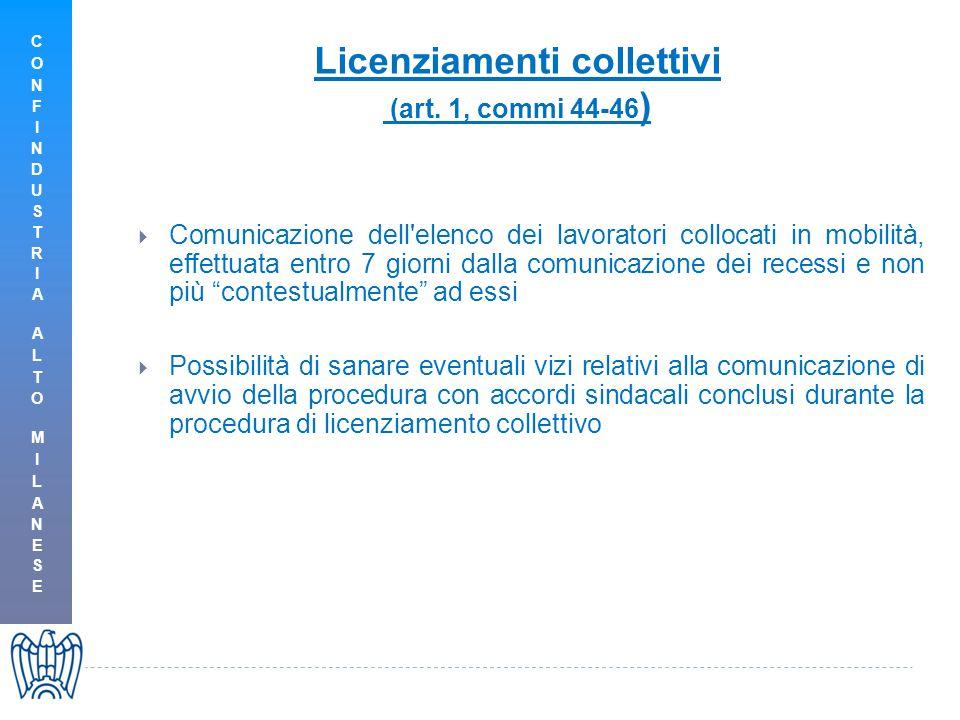 Licenziamenti collettivi (art.