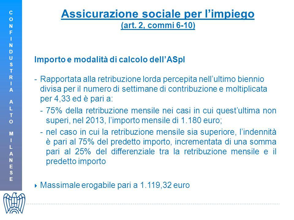 Assicurazione sociale per l'impiego (art.