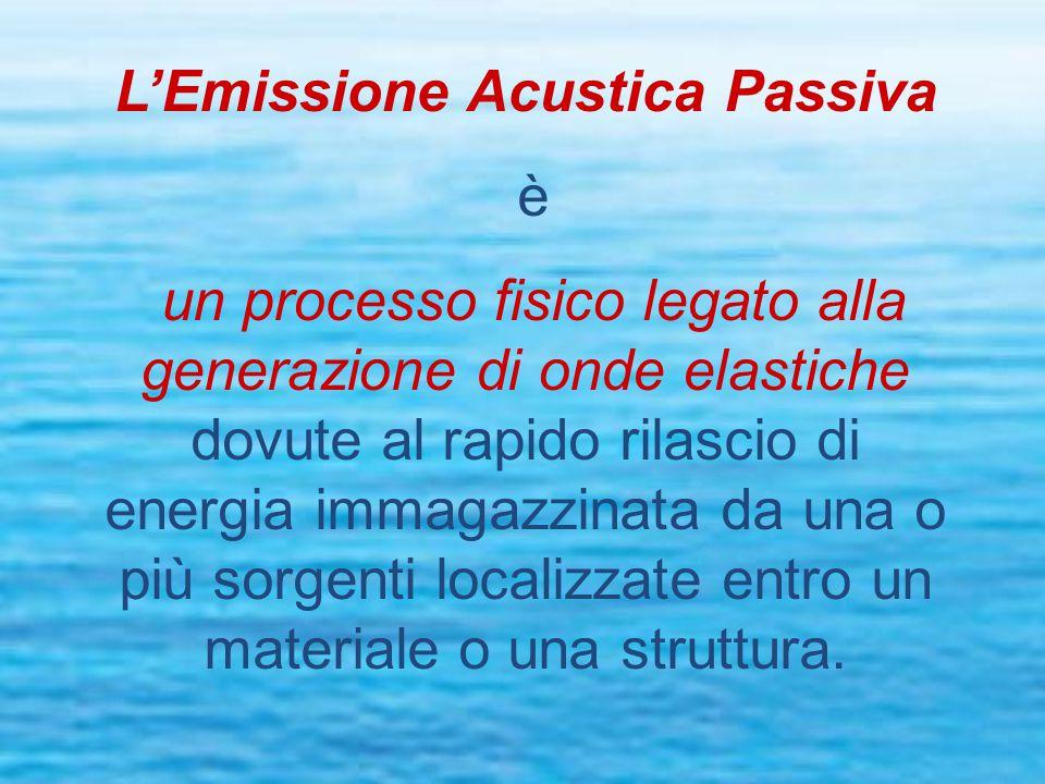 L'Emissione Acustica Passiva è un processo fisico legato alla generazione di onde elastiche dovute al rapido rilascio di energia immagazzinata da una o più sorgenti localizzate entro un materiale o una struttura.