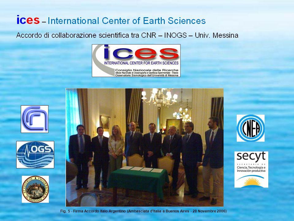Fig. 5 - Firma Accordo Italo Argentino (Ambasciata d'Italia a Buenos Aires - 28 Novembre 2006)