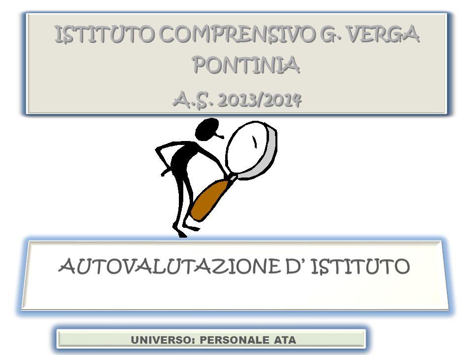 ISTITUTO COMPRENSIVO G.VERGA PONTINIA A.S. 2013/2014 ISTITUTO COMPRENSIVO G.