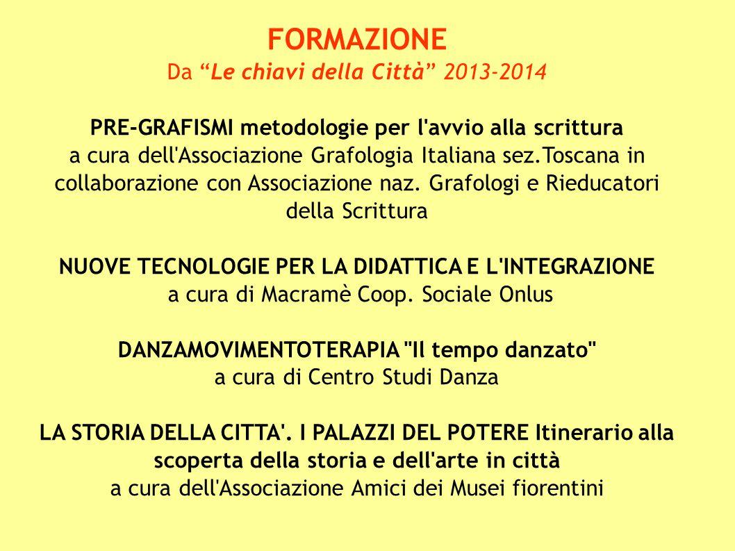 """FORMAZIONE Da """"Le chiavi della Città"""" 2013-2014 PRE-GRAFISMI metodologie per l'avvio alla scrittura a cura dell'Associazione Grafologia Italiana sez.T"""
