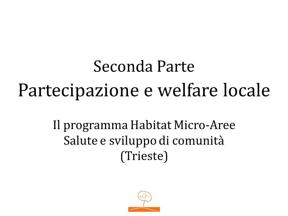 Seconda Parte Partecipazione e welfare locale Il programma Habitat Micro-Aree Salute e sviluppo di comunità (Trieste)