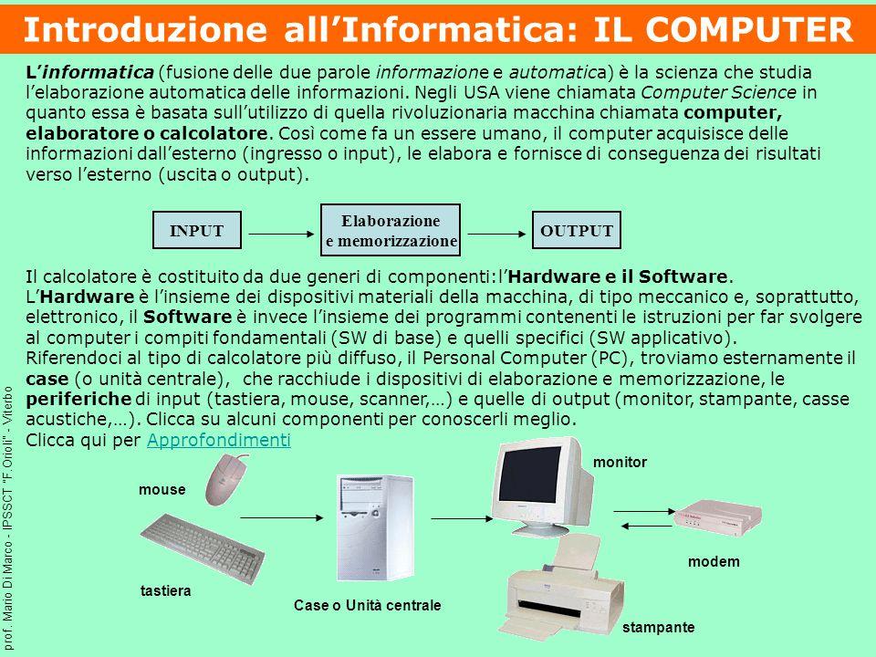 L'informatica (fusione delle due parole informazione e automatica) è la scienza che studia l'elaborazione automatica delle informazioni.