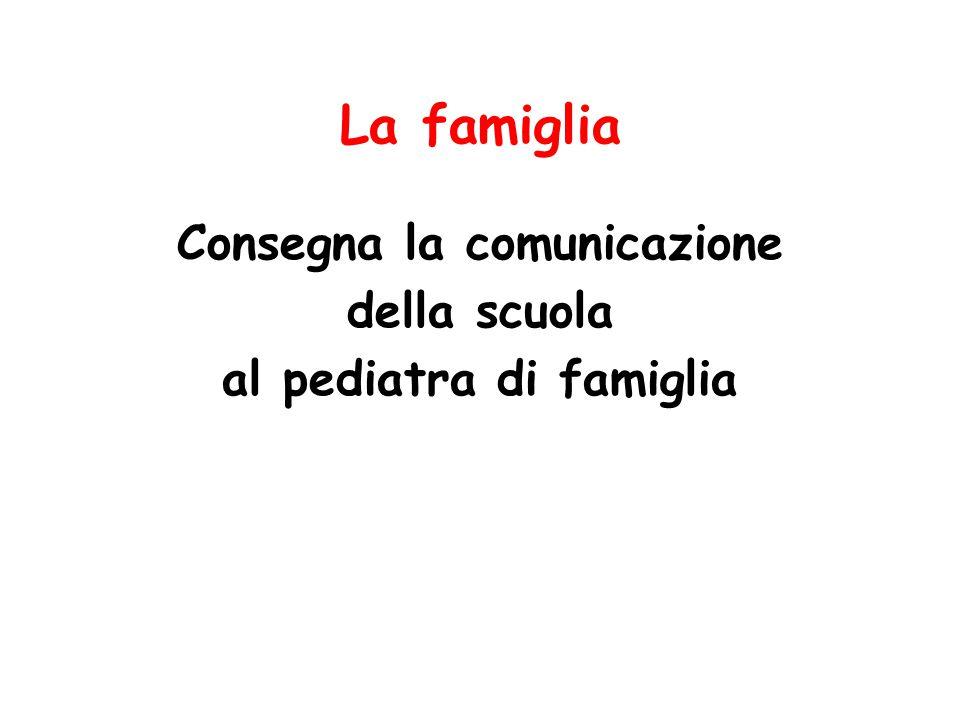 La famiglia Consegna la comunicazione della scuola al pediatra di famiglia