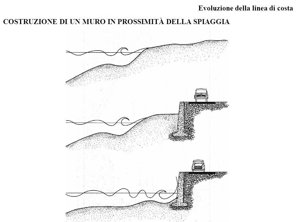 Evoluzione della linea di costa COSTRUZIONE DI UN MURO IN PROSSIMITÀ DELLA SPIAGGIA