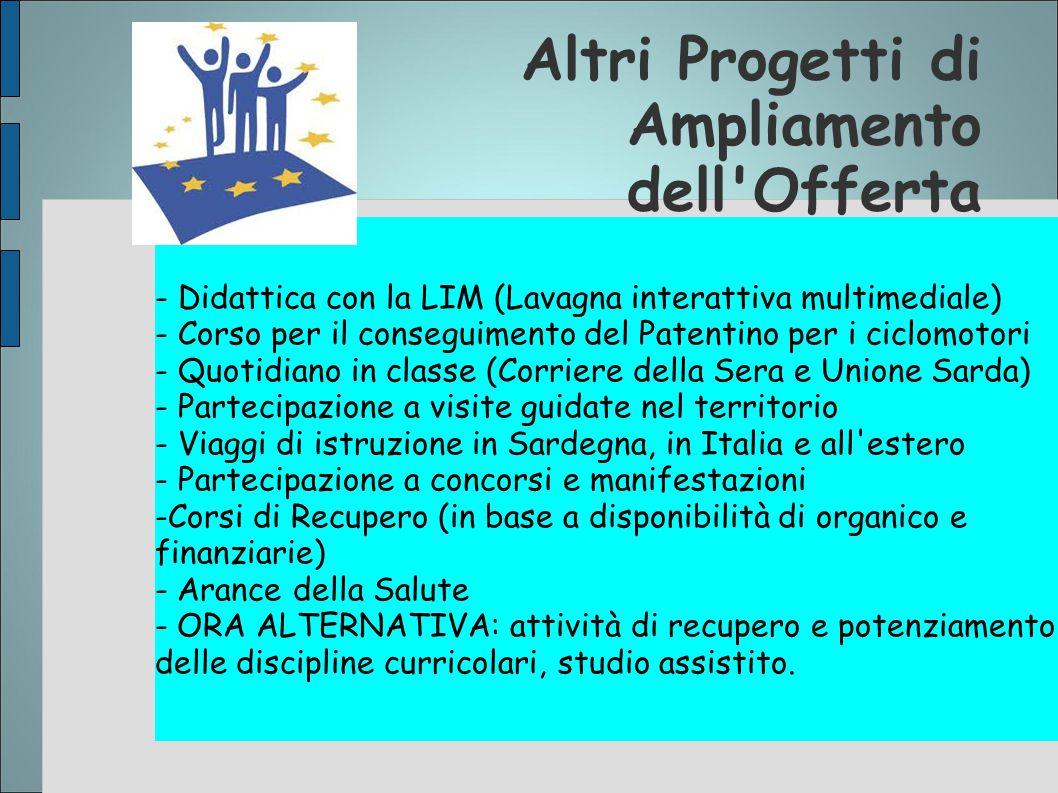 Altri Progetti di Ampliamento dell'Offerta - Didattica con la LIM (Lavagna interattiva multimediale) - Corso per il conseguimento del Patentino per i
