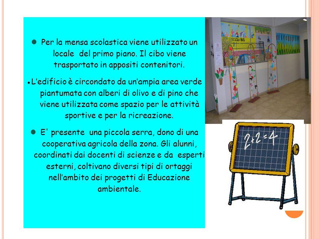 Per la mensa scolastica viene utilizzato un locale del primo piano.