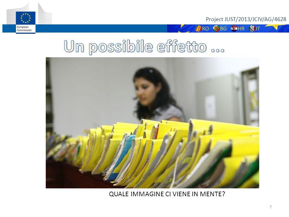 Project JUST/2013/JCIV/AG/4628 7 QUALE IMMAGINE CI VIENE IN MENTE
