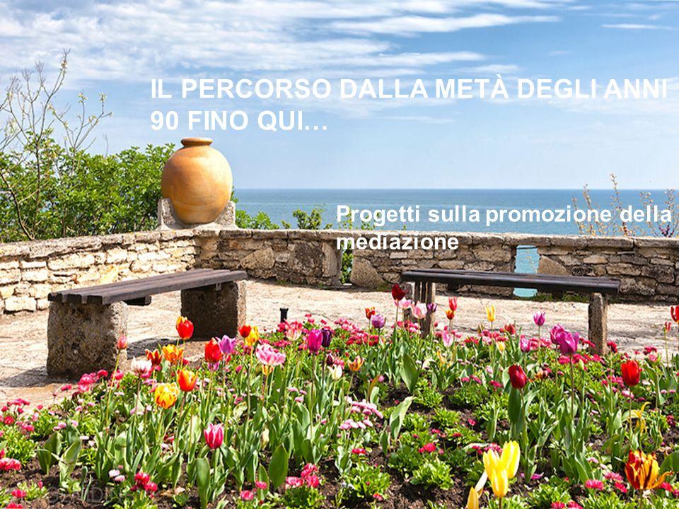 IL PERCORSO DALLA METÀ DEGLI ANNI 90 FINO QUI… Progetti sulla promozione della mediazione