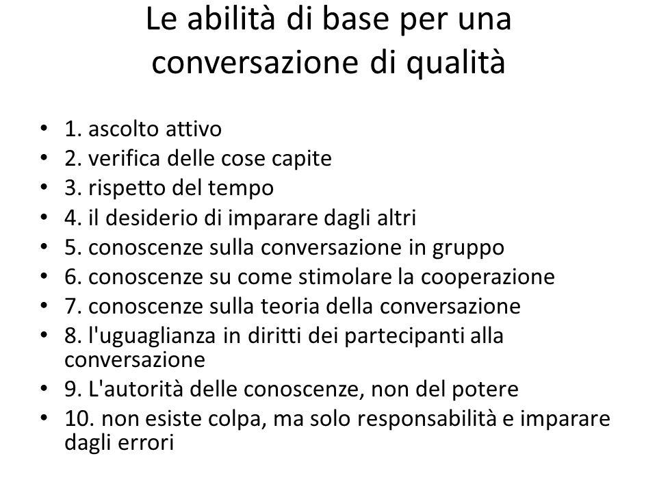 Le abilità di base per una conversazione di qualità 1.