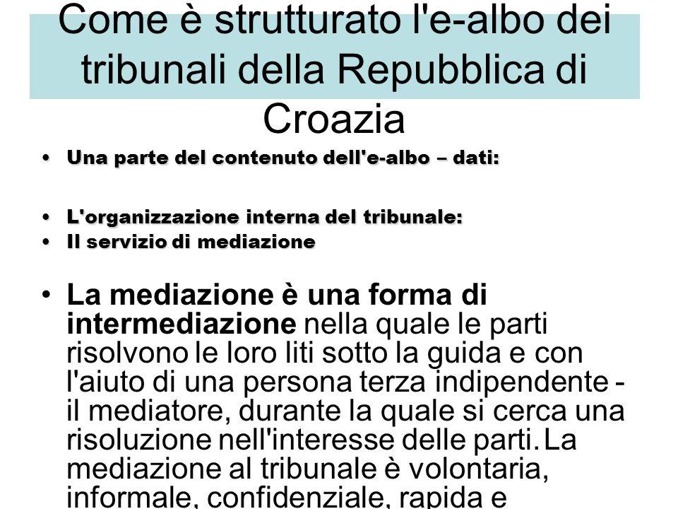 IL QUADRO GIURIDICO NELLA REPUBBLICA DI CROAZIA La leggesula mediazione Gazzetta Ufficiale n.