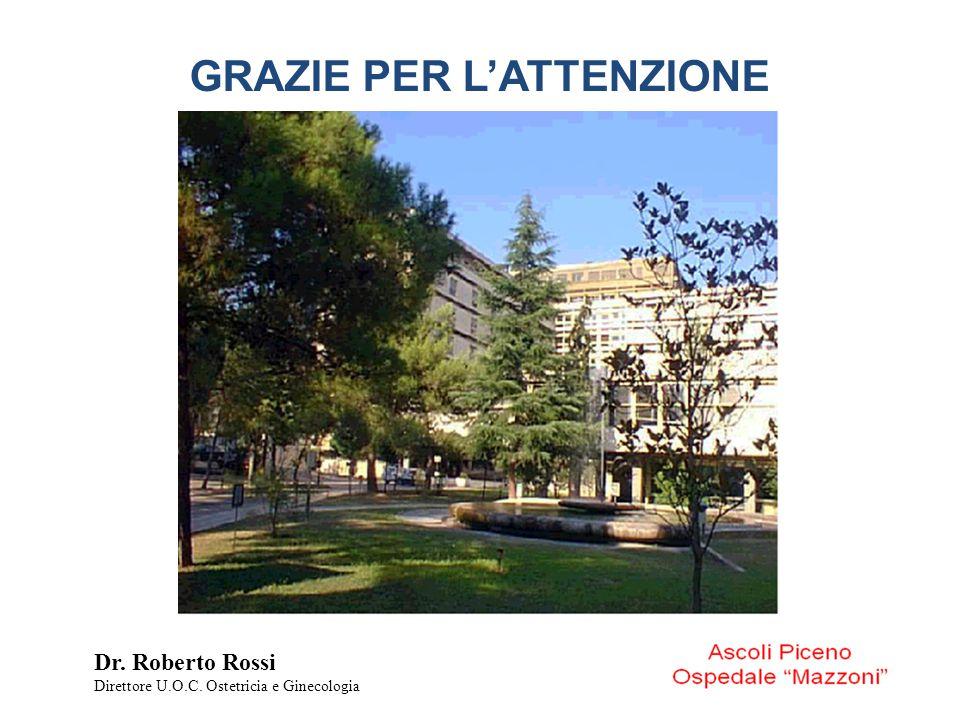 GRAZIE PER L'ATTENZIONE Dr. Roberto Rossi Direttore U.O.C. Ostetricia e Ginecologia