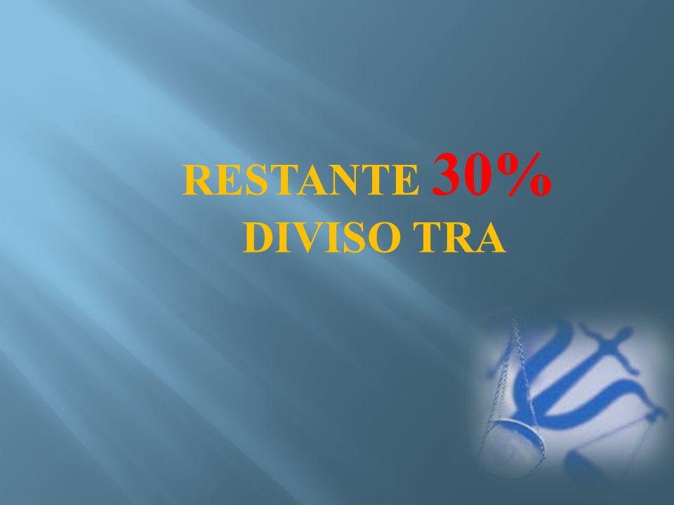 RESTANTE 30% DIVISO TRA
