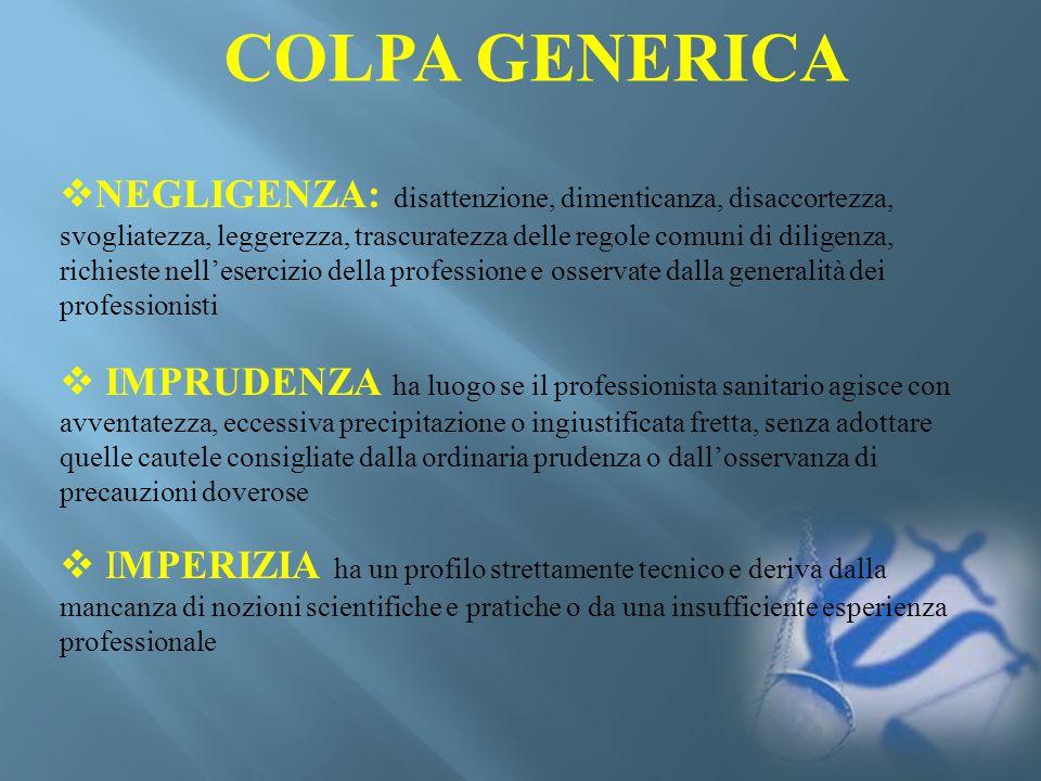 CASONATURA (civile/penale)TIPOLOGIA DI DENUNCIALESIONI FerraraCivileLesioni colposeSofferenza prenatale.