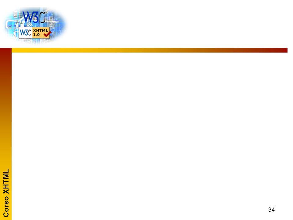 Corso XHTML 35 La validazione del documento I principali browser possono verificare la sintassi di un documento.