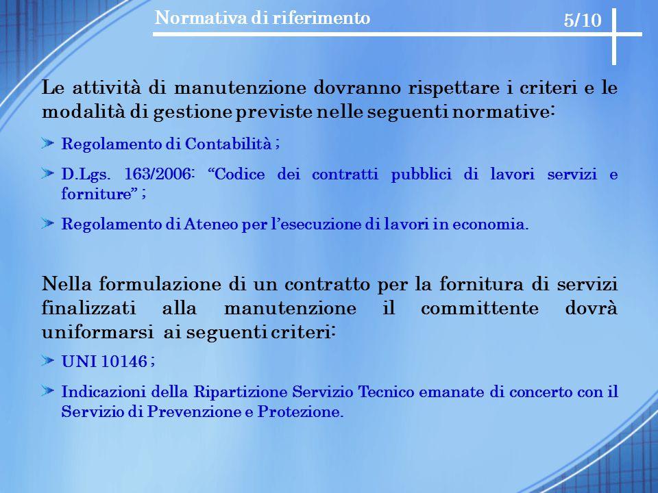 """Normativa di riferimento Regolamento di Contabilità ; D.Lgs. 163/2006: """"Codice dei contratti pubblici di lavori servizi e forniture"""" ; Regolamento di"""