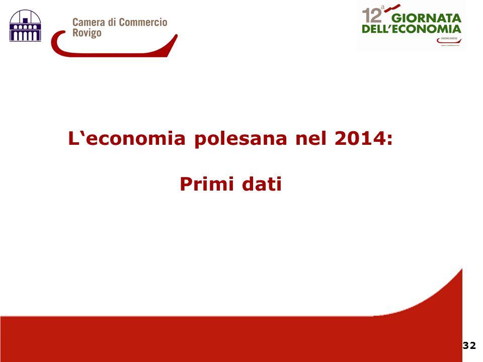 32 L'economia polesana nel 2014: Primi dati