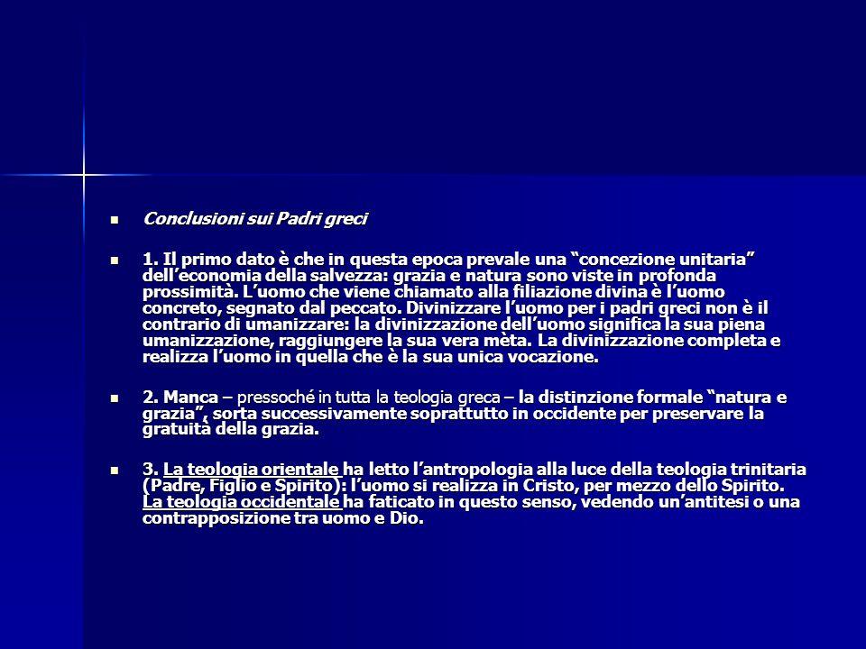 """Conclusioni sui Padri greci Conclusioni sui Padri greci 1. Il primo dato è che in questa epoca prevale una """"concezione unitaria"""" dell'economia della s"""