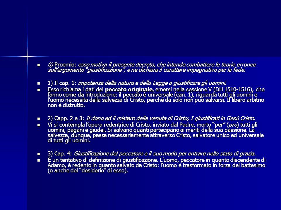 """0) Proemio: esso motiva il presente decreto, che intende combattere le teorie erronee sull'argomento """"giustificazione"""", e ne dichiara il carattere imp"""
