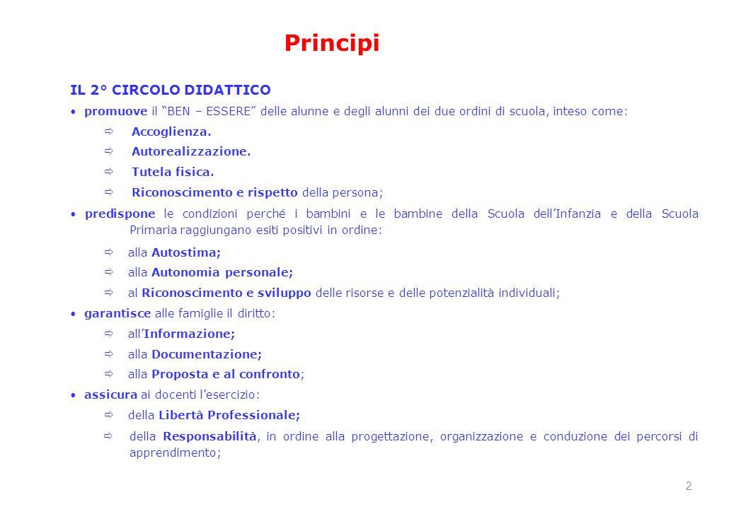"""IL 2° CIRCOLO DIDATTICO promuove il """"BEN – ESSERE"""" delle alunne e degli alunni dei due ordini di scuola, inteso come:  Accoglienza.  Autorealizzazio"""