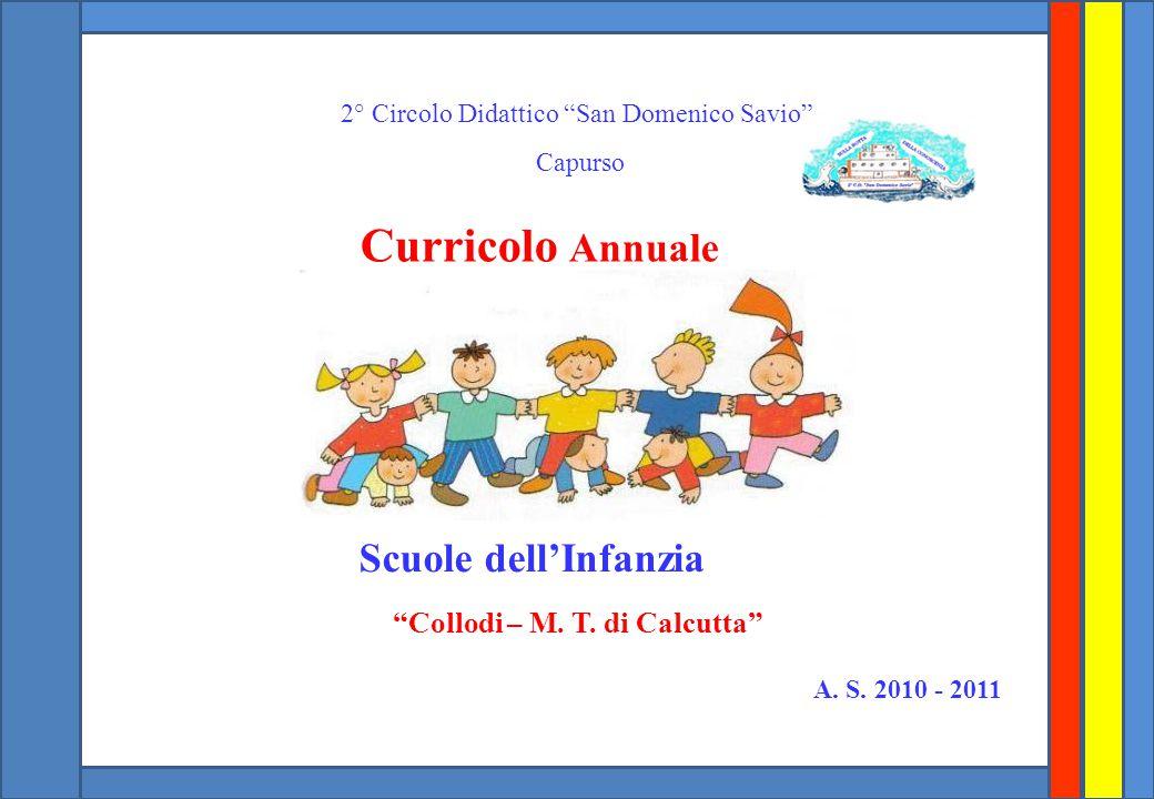 2° Circolo Didattico San Domenico Savio Capurso Curricolo Annuale Scuole dell'Infanzia Collodi – M.