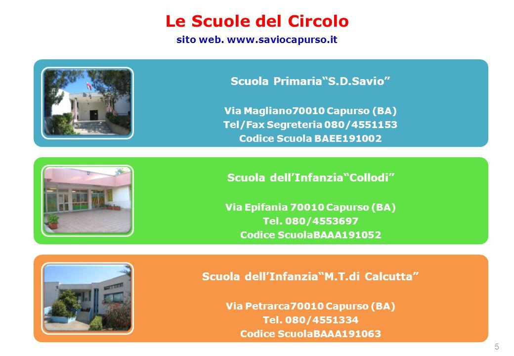 Le Scuole del Circolo sito web. www.saviocapurso.it 5
