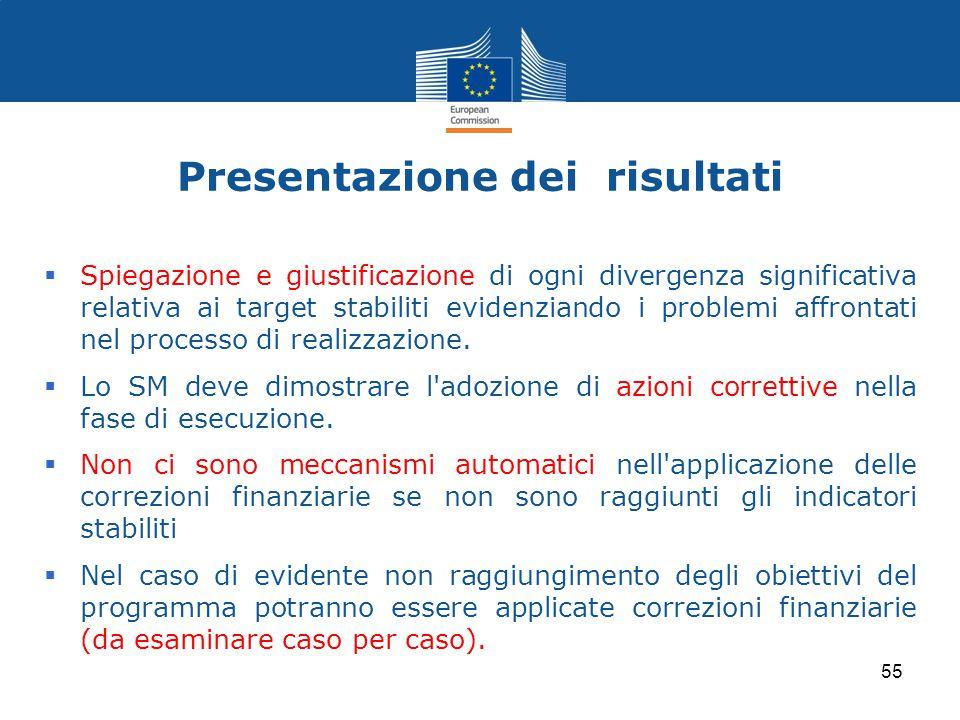 Presentazione dei risultati  Spiegazione e giustificazione di ogni divergenza significativa relativa ai target stabiliti evidenziando i problemi affr