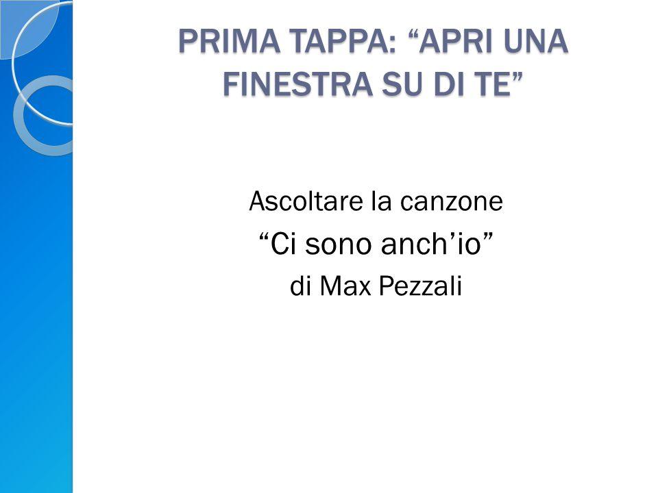 PRIMA TAPPA: APRI UNA FINESTRA SU DI TE Ascoltare la canzone Ci sono anch'io di Max Pezzali