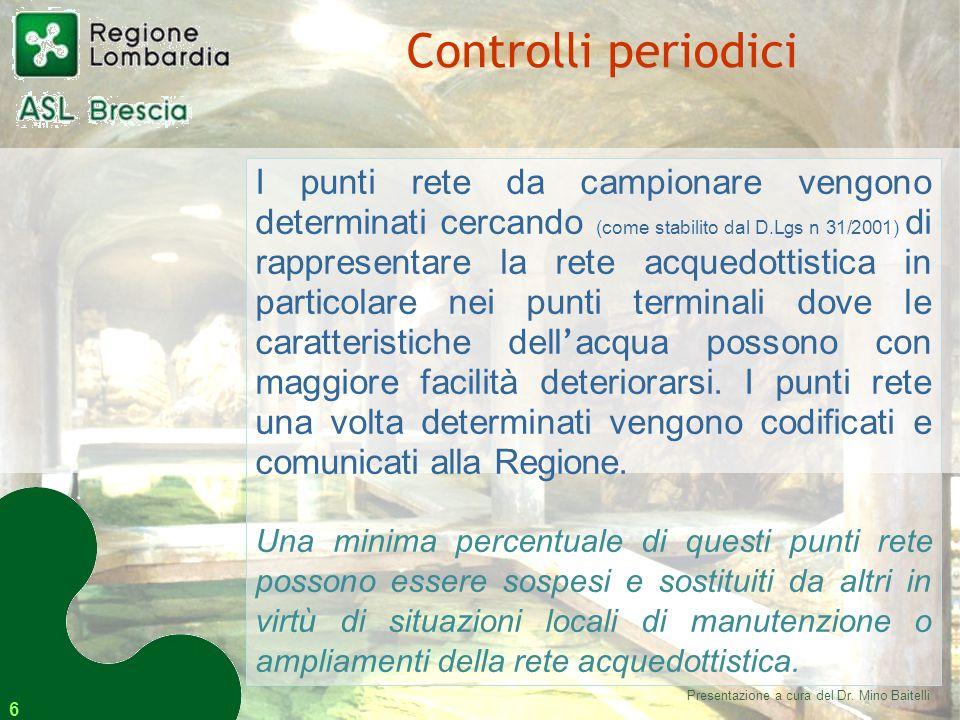 17 L'ASL di Brescia, infine, su richiesta del cittadino, esegue l'analisi della qualità dell'acqua di pozzi privati.