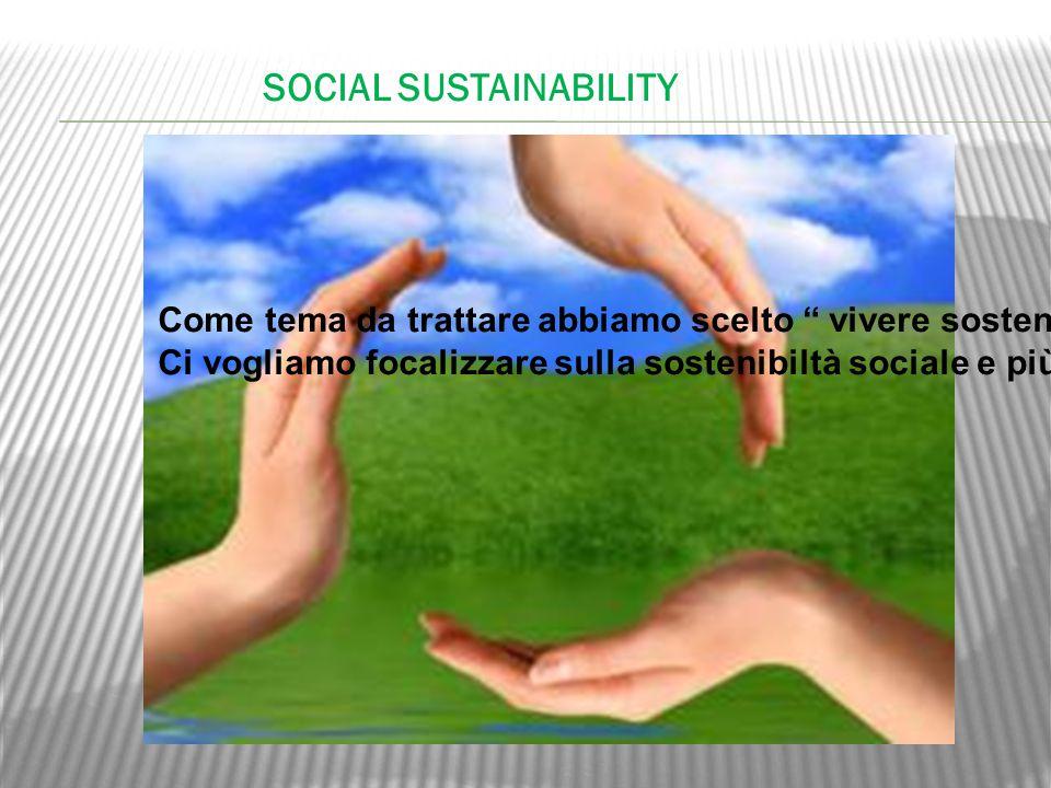 Come tema da trattare abbiamo scelto vivere sostenibile , perché crediamo che per costruire un futuro sostenibile, la nostra partecipazione, per il nostro pianeta e per la nostra società, sia fondamentale.