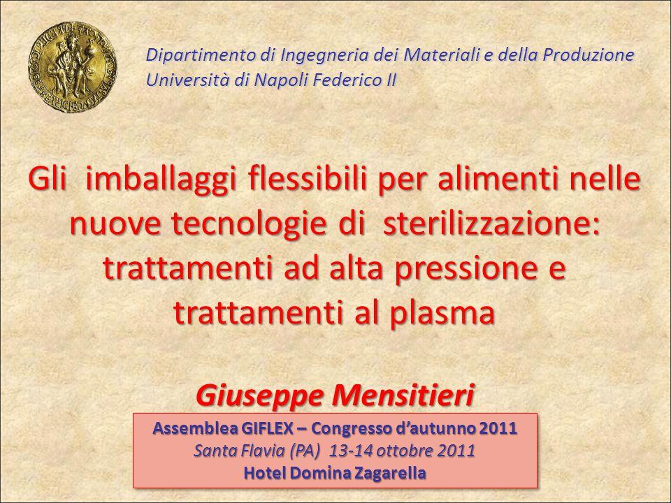 Dipartimento di Ingegneria dei Materiali e della Produzione Università di Napoli Federico II Gli imballaggi flessibili per alimenti nelle nuove tecnol