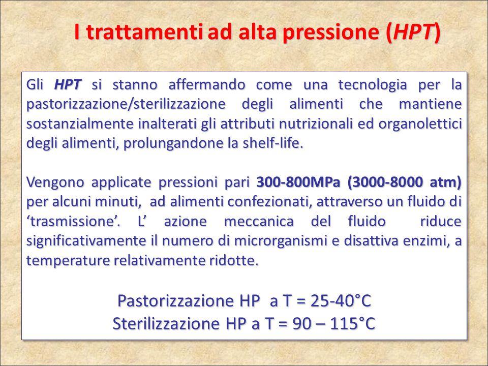 I trattamenti ad alta pressione (HPT) Gli HPT si stanno affermando come una tecnologia per la pastorizzazione/sterilizzazione degli alimenti che manti