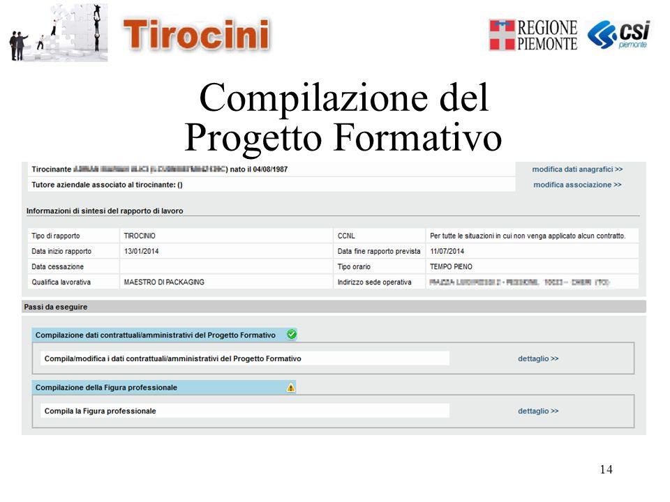 14 Compilazione del Progetto Formativo