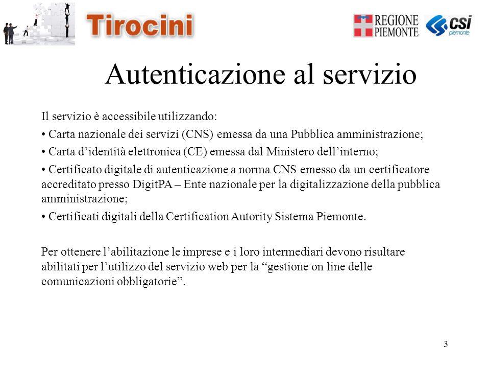3 Autenticazione al servizio Il servizio è accessibile utilizzando: Carta nazionale dei servizi (CNS) emessa da una Pubblica amministrazione; Carta d'