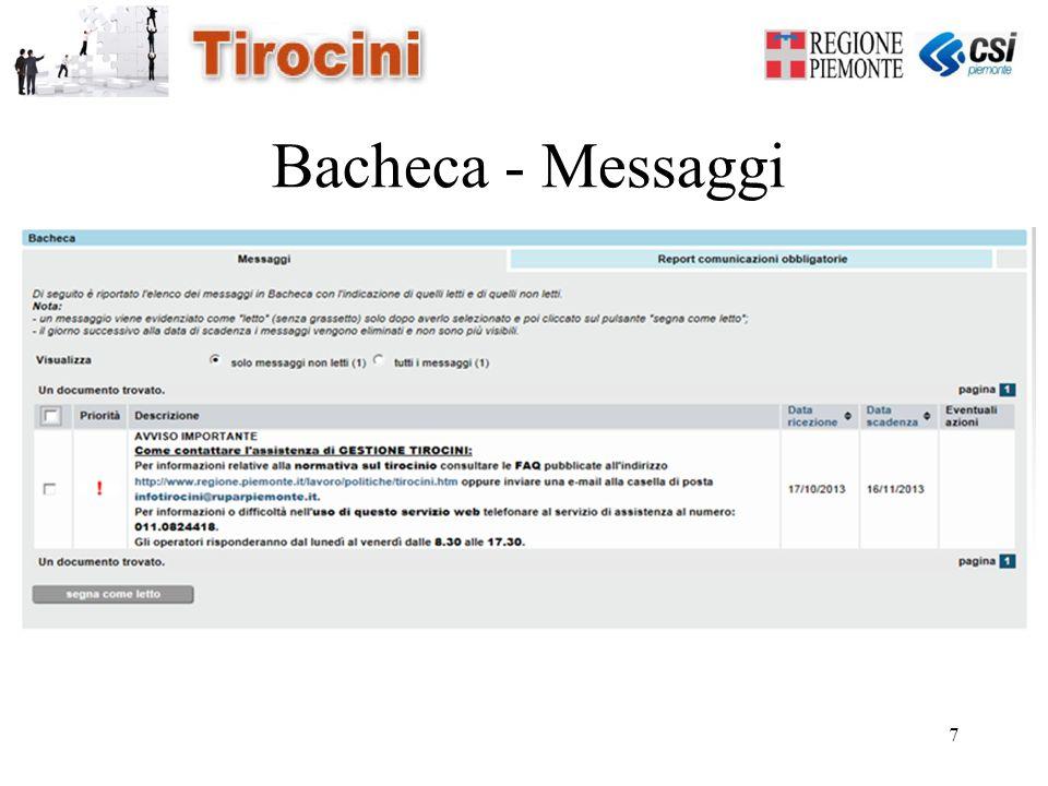 7 Bacheca - Messaggi