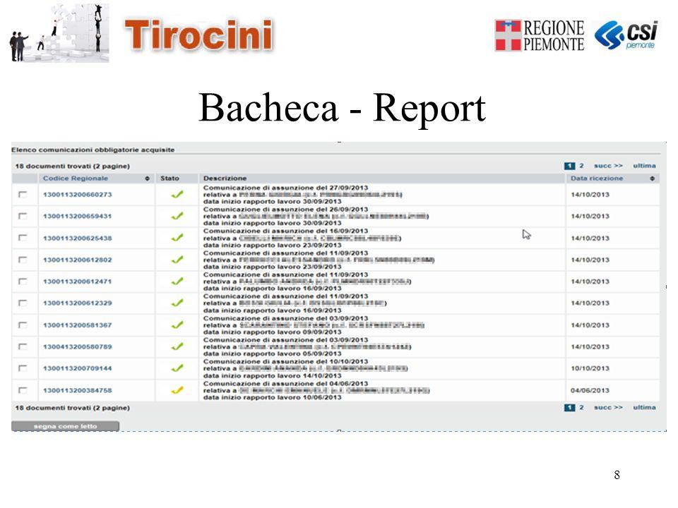8 Bacheca - Report