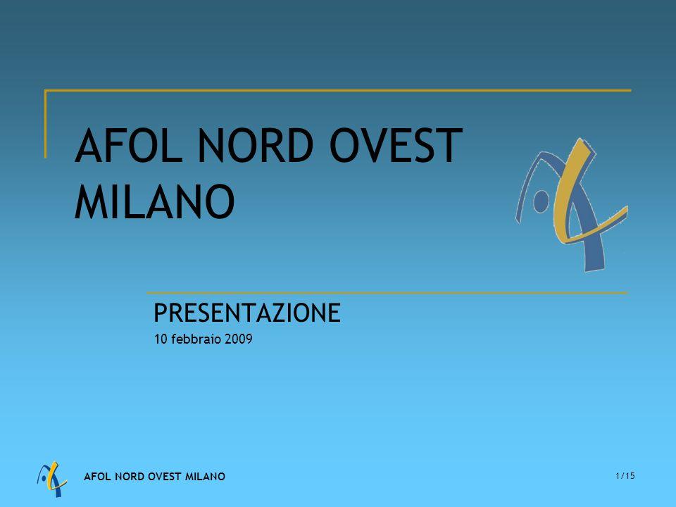 AFOL NORD OVEST MILANO 1/15 AFOL NORD OVEST MILANO PRESENTAZIONE 10 febbraio 2009