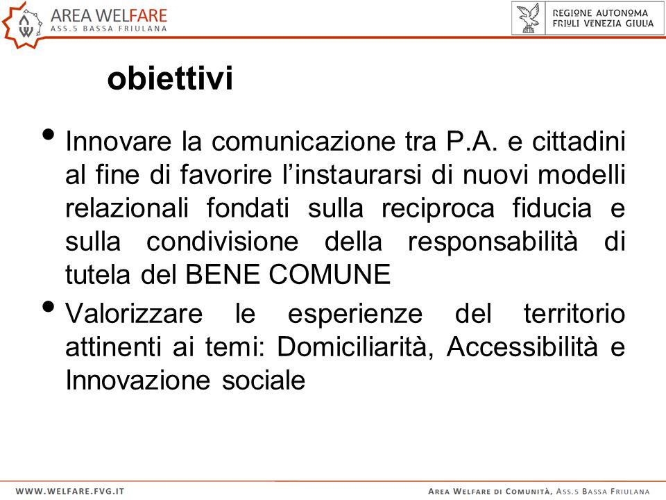 obiettivi Innovare la comunicazione tra P.A.