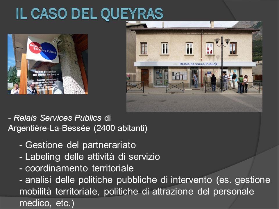 - Relais Services Publics di Argentière-La-Bessée (2400 abitanti) - Gestione del partnerariato - Labeling delle attività di servizio - coordinamento t