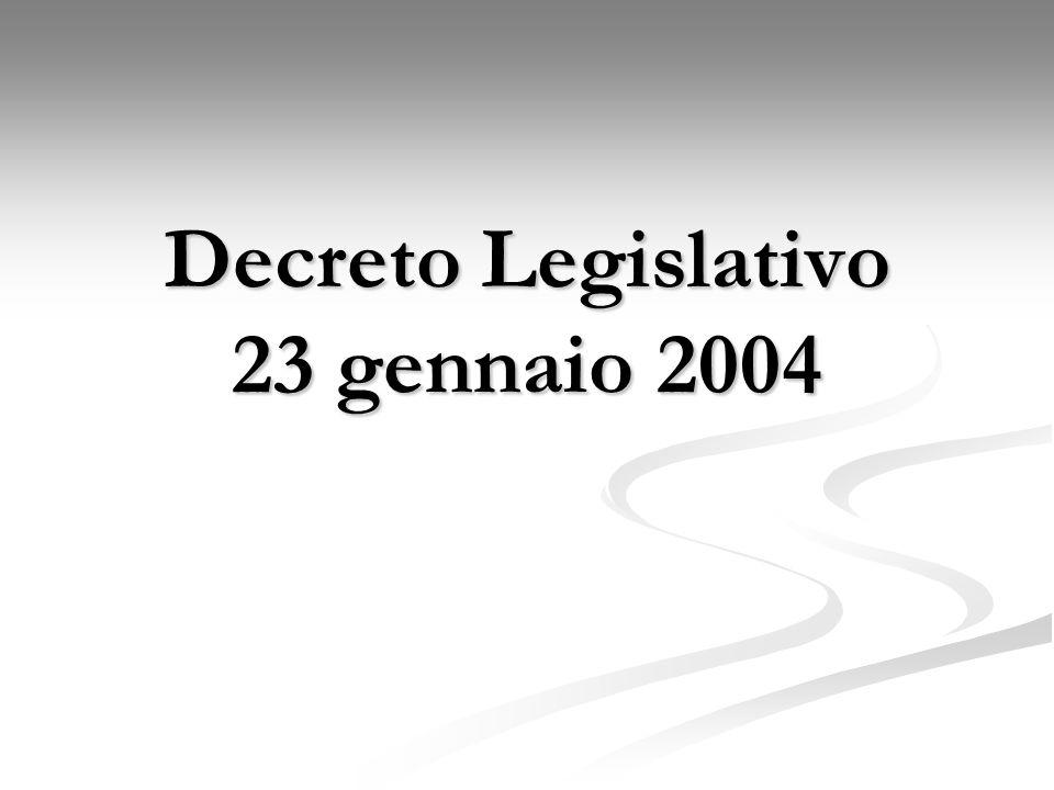 Decreto Legislativo 23 gennaio 2004