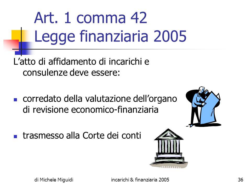 di Michele Miguidiincarichi & finanziaria 200536 Art.